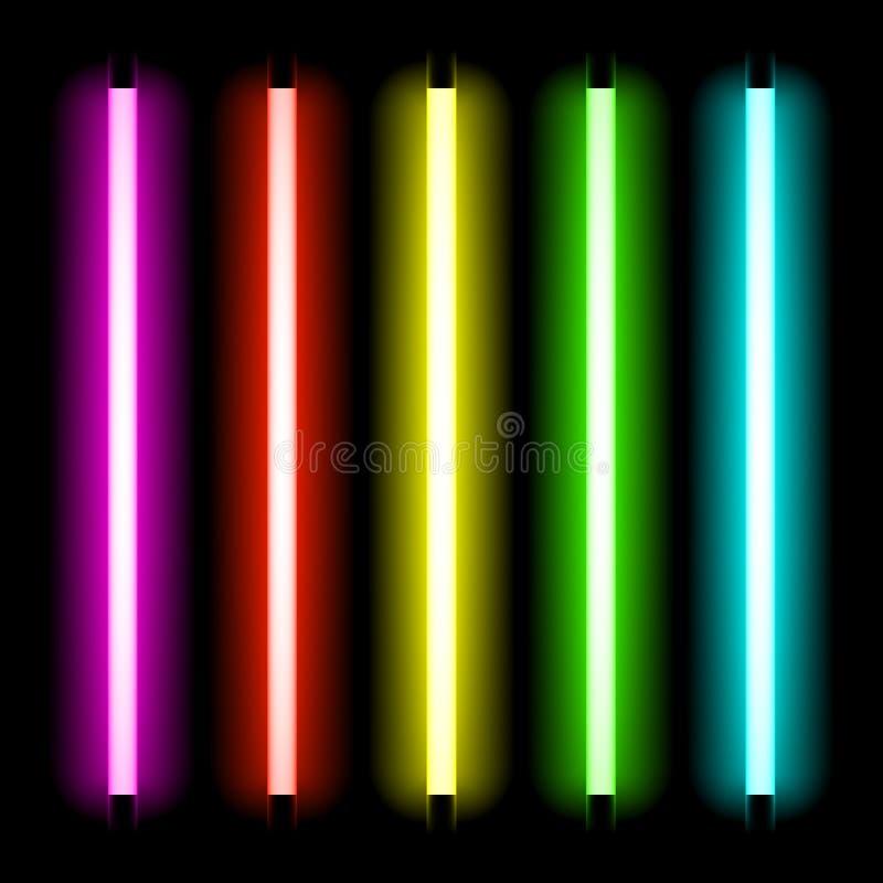 Neon tube light. Neon tubes light vector illustration vector illustration