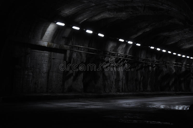 Neon tunnel at night royalty free stock images