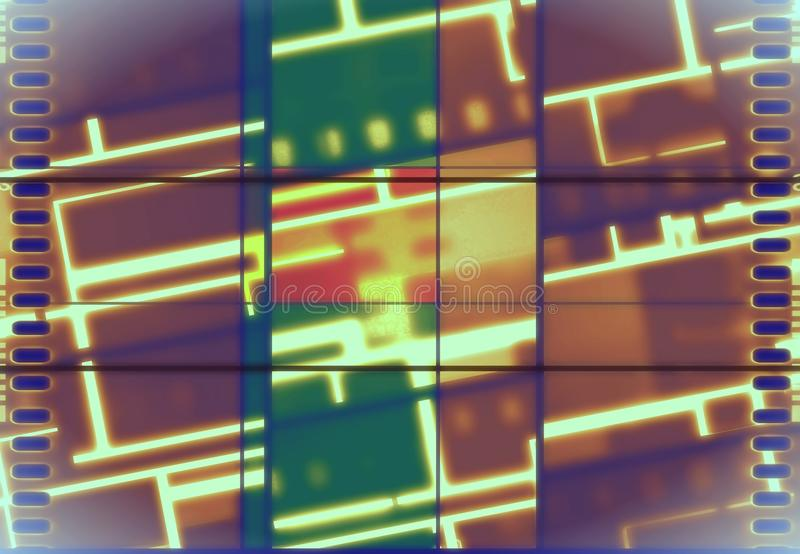 Neon Vintage film banner royalty free stock images