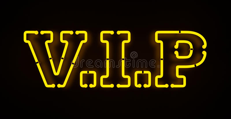 Neon VIP sign stock photo