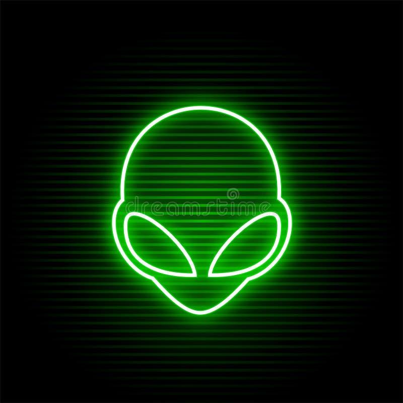 Neon vreemd gezicht stock illustratie
