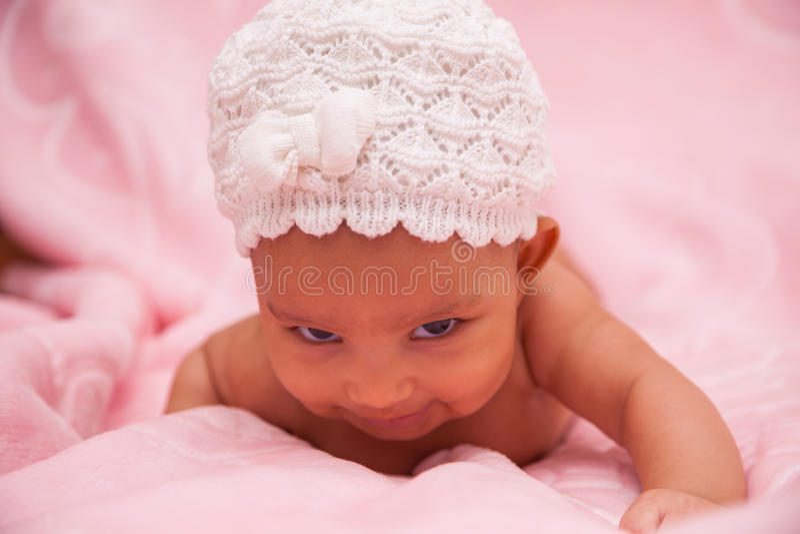 Neonata afroamericana - persone di colore fotografia stock libera da diritti