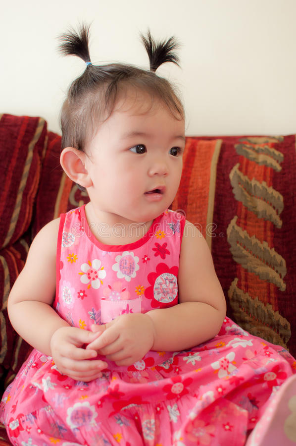 Neonata asiatica immagini stock