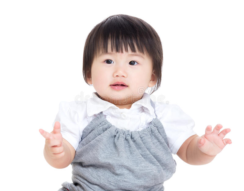 Neonata asiatica fotografie stock libere da diritti