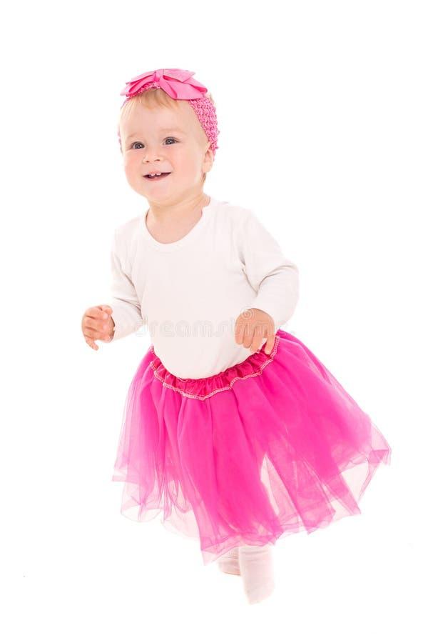 Neonata corrente in tutu rosa fotografia stock libera da diritti