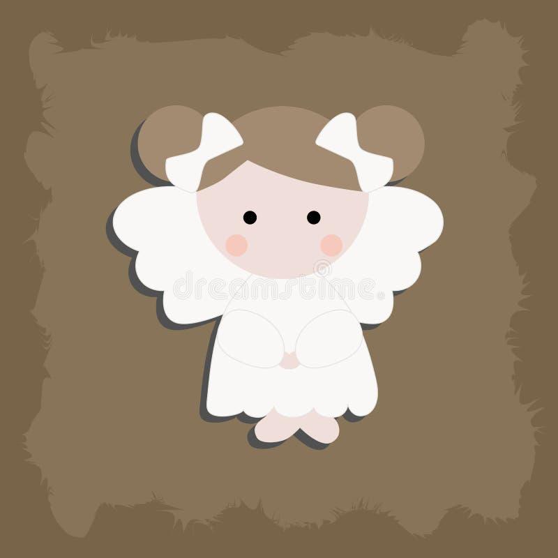 Neonata di angelo di Natale royalty illustrazione gratis