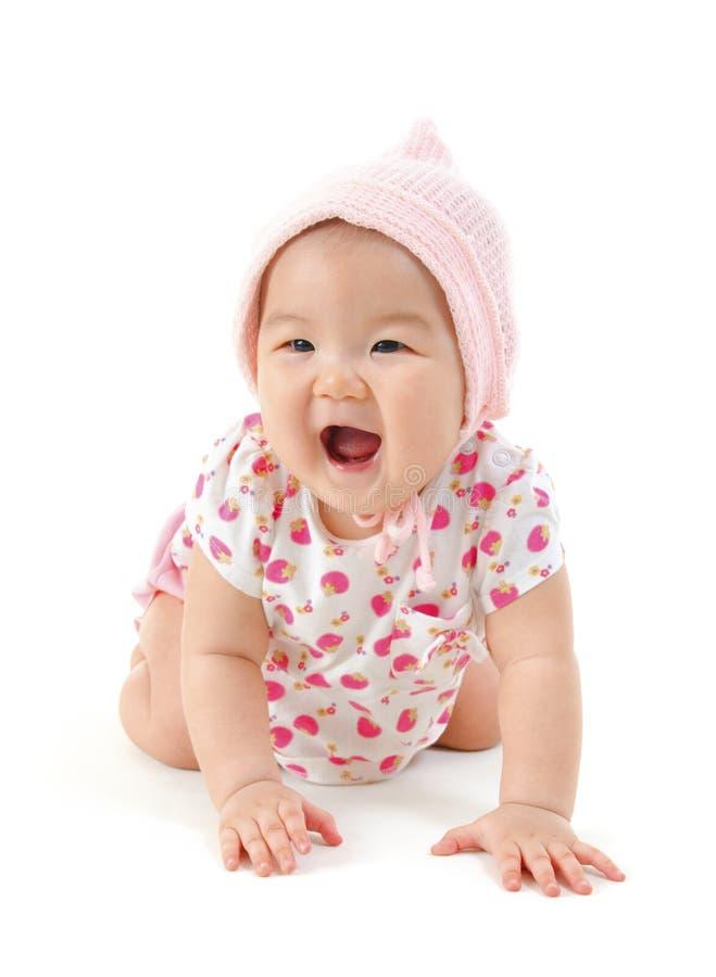 Neonata felice immagini stock