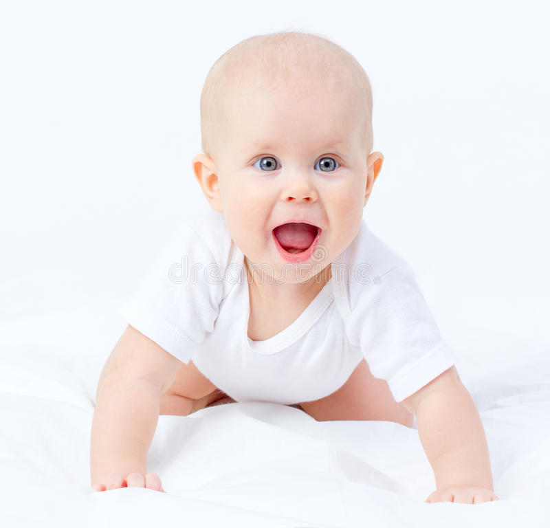 Neonata piacevole fotografia stock