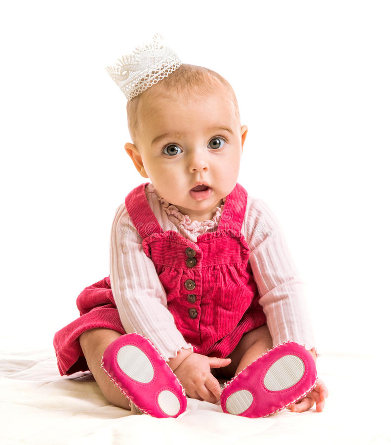Neonata in principessa del costume fotografia stock