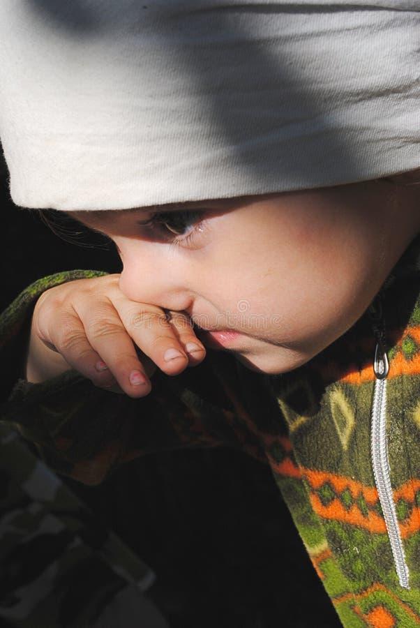 Neonata in ritratto della bandana fotografia stock libera da diritti