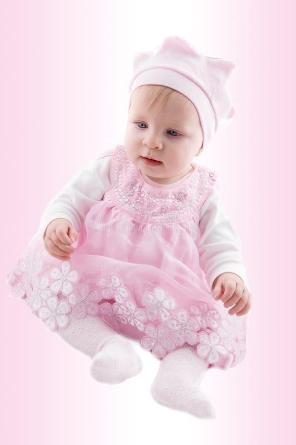 Neonata in vestito operato immagini stock