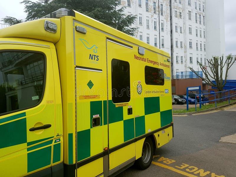 Neonatal Emergency London Ambulance royalty free stock photography