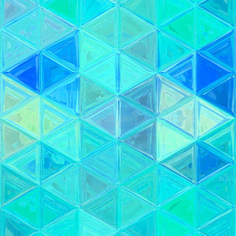 Neonblau- und Türkisdreieckmuster für Gewebe und Tapete stock abbildung