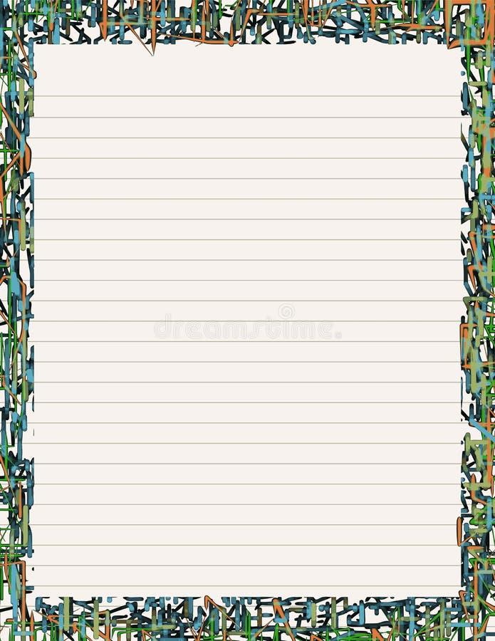 Neonbriefpapier II lizenzfreie abbildung