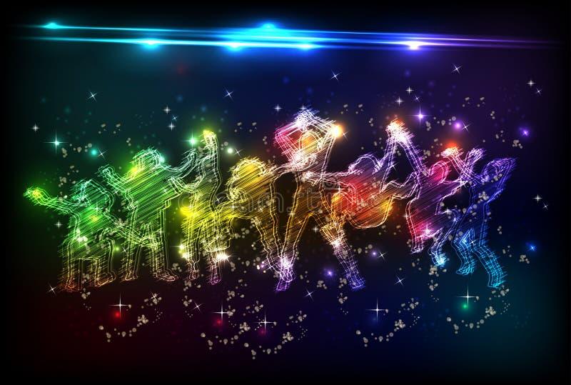 neondeltagare vektor illustrationer