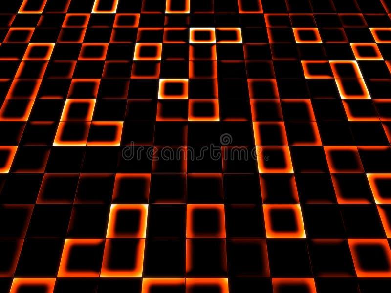 Neonfliesehintergrund lizenzfreie abbildung