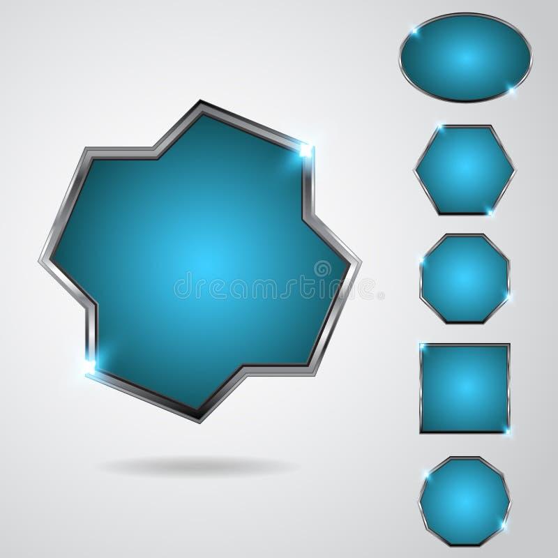 Neonknopf vektor abbildung