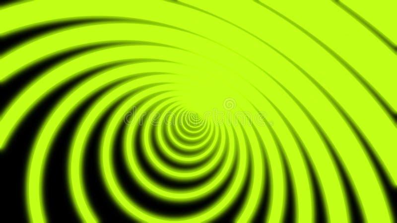 Neonkreistunnel abstrakter Bewegungsuntergrund Umkreis, der sich aus lebhaften Azurblau-Linien und einer Kamera zusammensetzt, di vektor abbildung