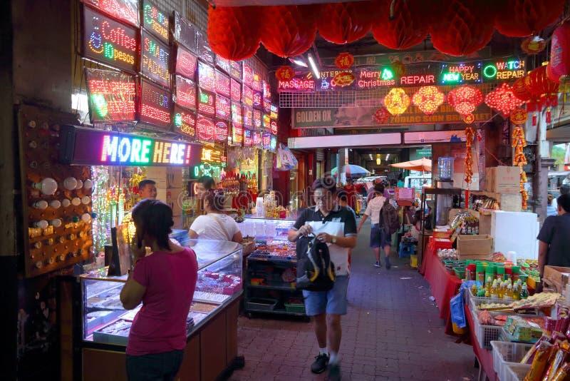 Neonlager i Manila royaltyfri foto