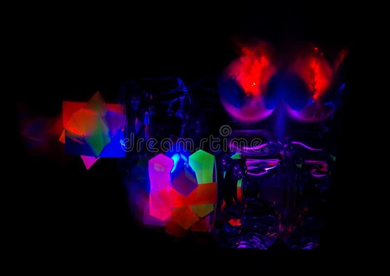 Neonleuchten stockfoto