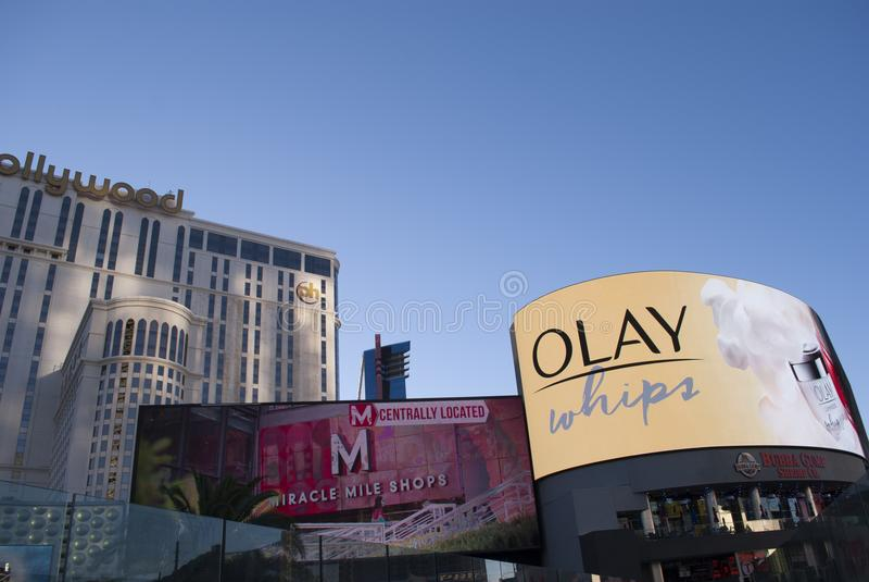 Neonleuchten von Las Vegas stockbilder