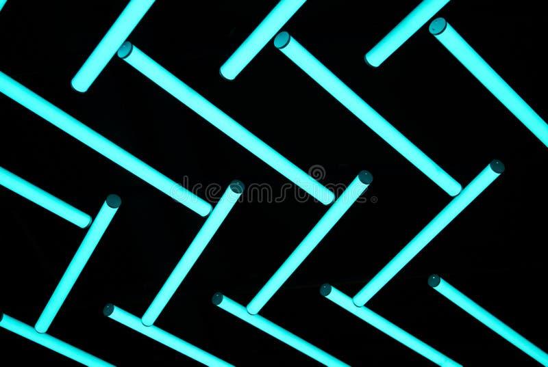 Neonlighkula i mörk bakgrund fotografering för bildbyråer