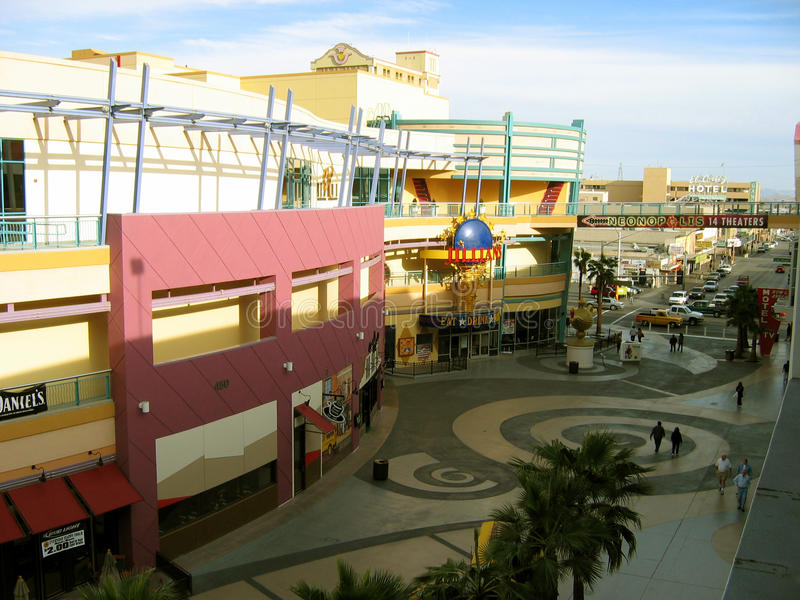 Neonopolis 14 teatros, Las Vegas, Nevada, los E.E.U.U. fotografía de archivo