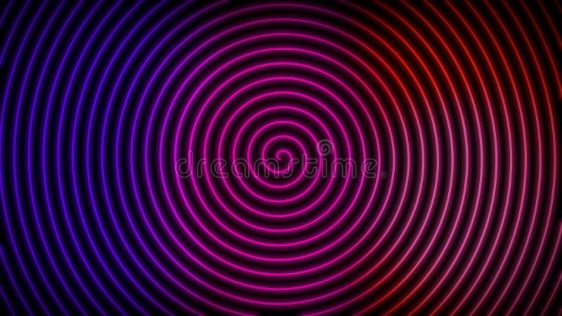 Neonowa Ślimakowata ciemna tło tapeta royalty ilustracja