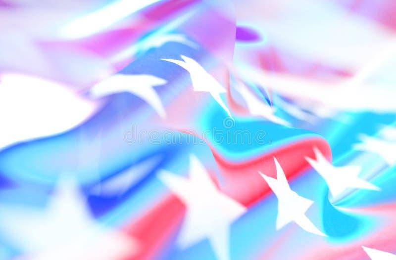 Neonowa abstrakcjonistyczna fotografia z flagą Ameryka fotografia stock