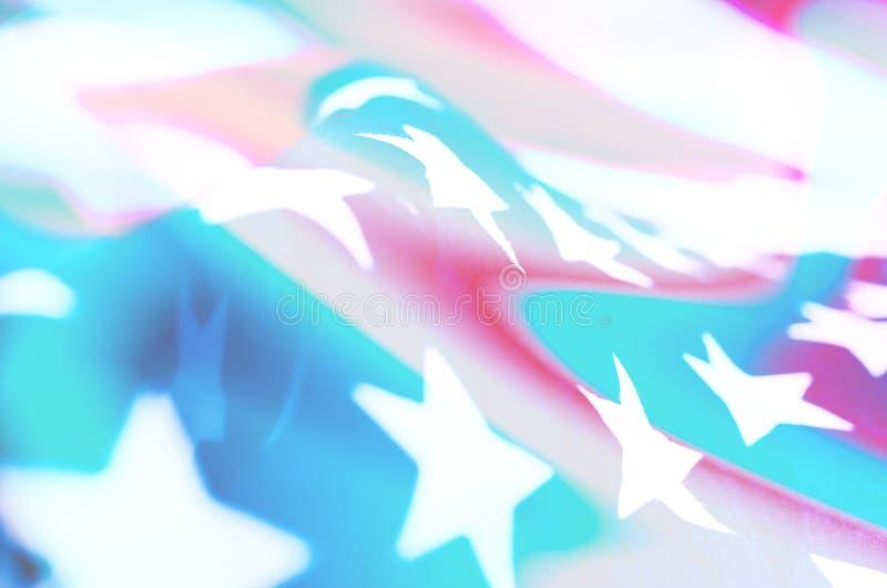Neonowa abstrakcjonistyczna fotografia z flag? Ameryka zdjęcie royalty free