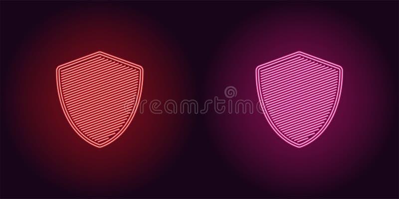 Neonowa ikona rewolucjonistki i menchii sieci osłona ilustracja wektor