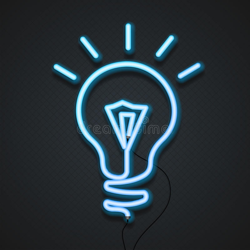 Neonowa lampa wektor royalty ilustracja