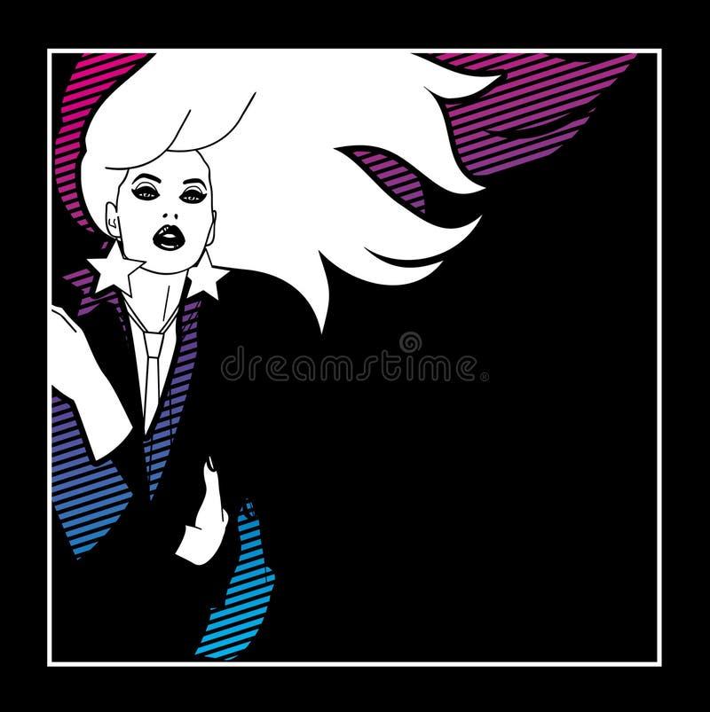 neonowa noc royalty ilustracja