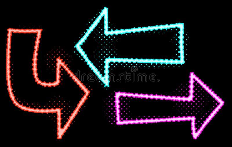 Neonowe Jarzeniowe strzał ilustracje ilustracji