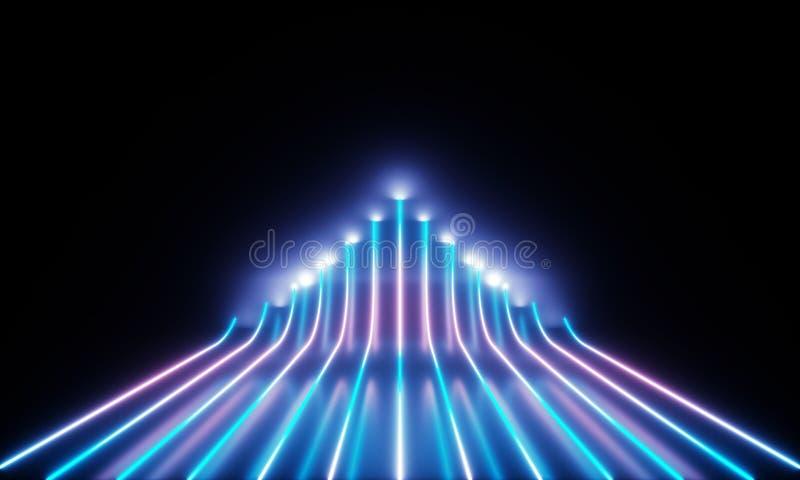 Neonowe tubki z cudownym ?wiat?em ilustracja wektor