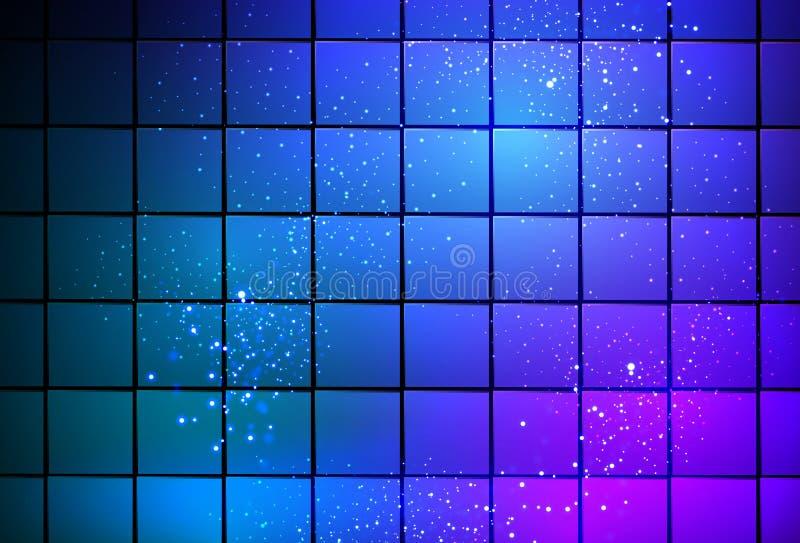 Neonowego światła sześcianu tło ilustracji