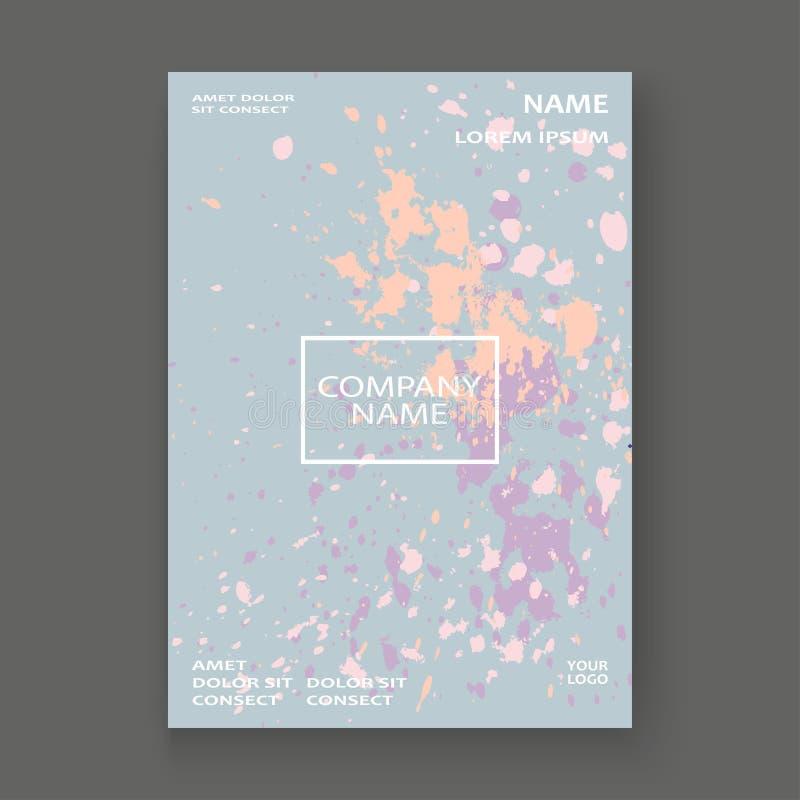 Neonowego pastelowego wybuch farby splatter pokrywy ramy artystyczny projekt ilustracji