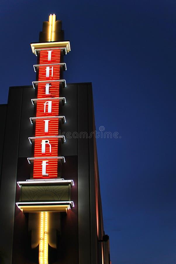 neonowego znaka teatr zdjęcie stock
