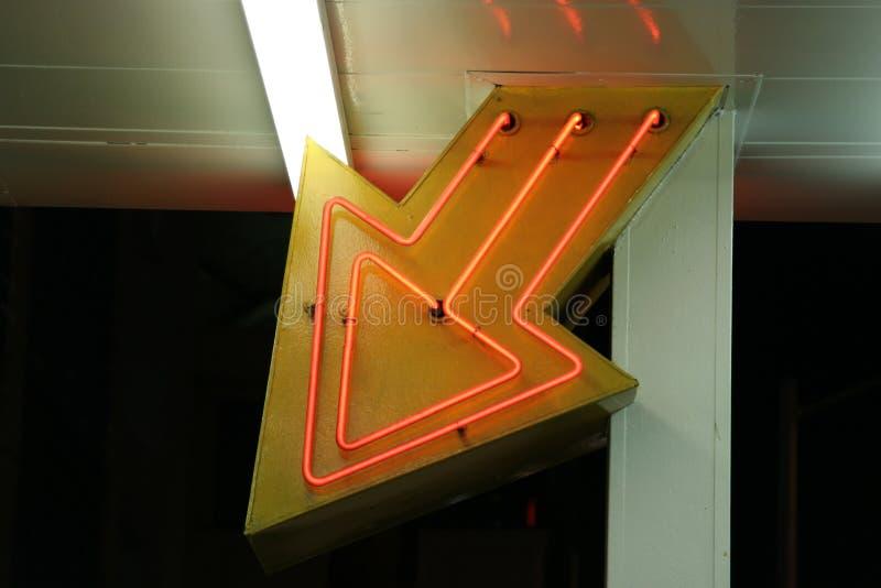 Neonowi Las Vegas światła, wejście fotografia stock