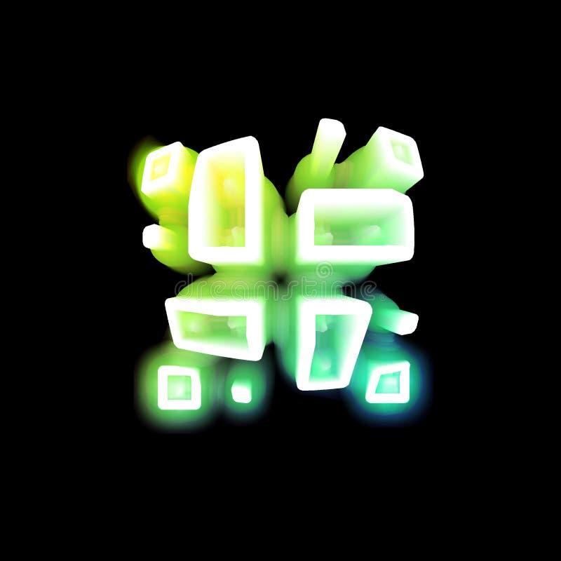 Neonowi prostokąty i kwadraty royalty ilustracja
