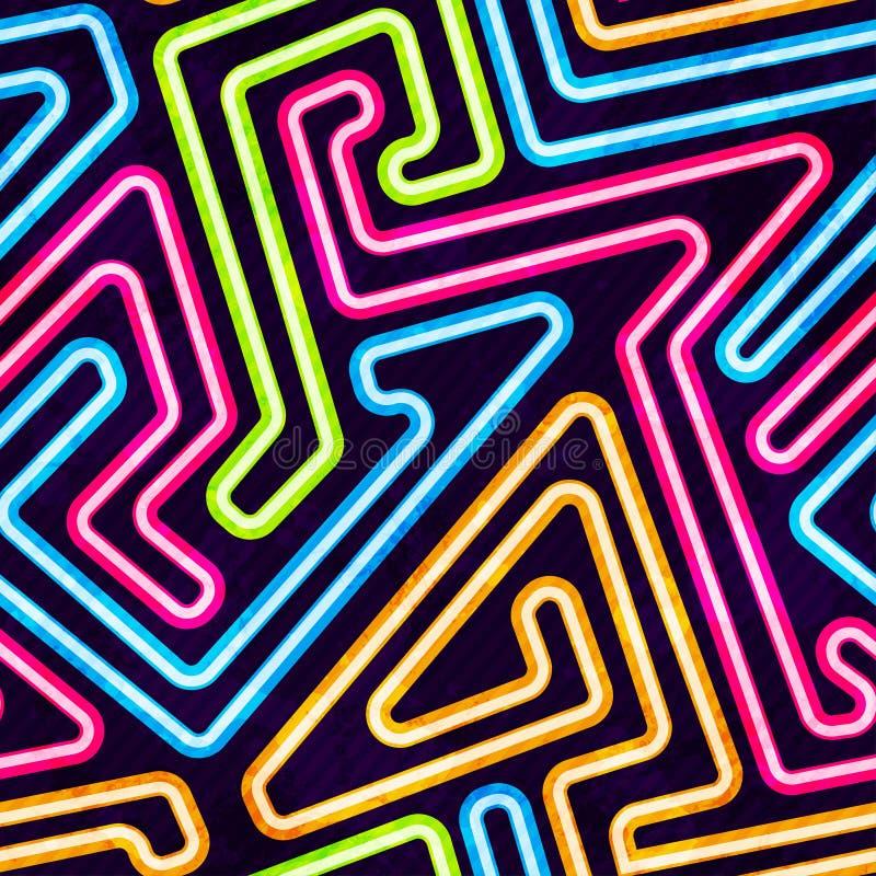 Neonowy Bezszwowy wzór ilustracja wektor