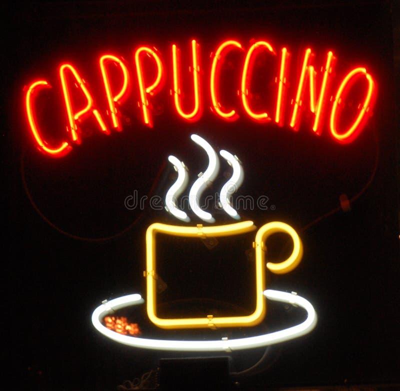Neonowy Cappuccino zdjęcia royalty free