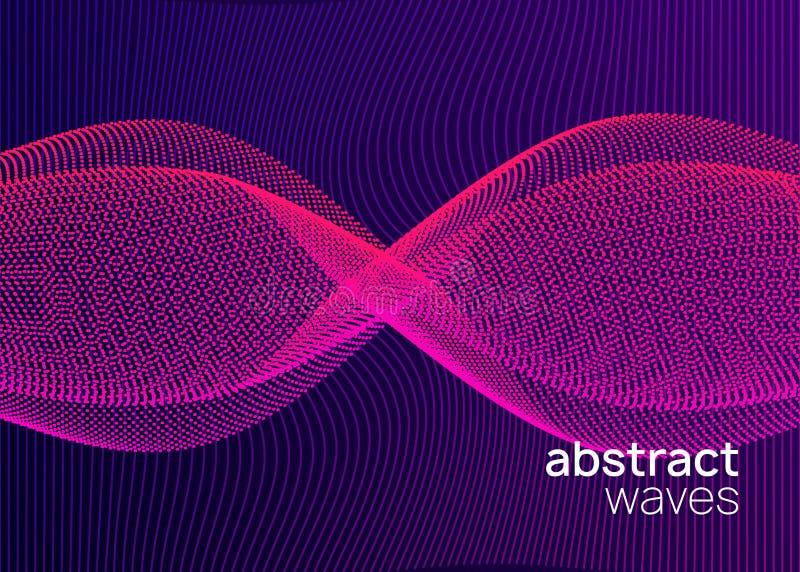 Neonowy elektroniczny wydarzenie Electro taniec dj i Świetlicowy fest ilustracja wektor