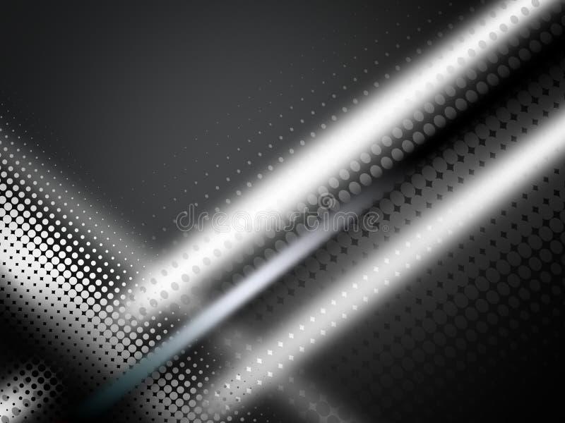 Neonowy gładzi falowego cyfrowego abstrakcjonistycznego tło ilustracji