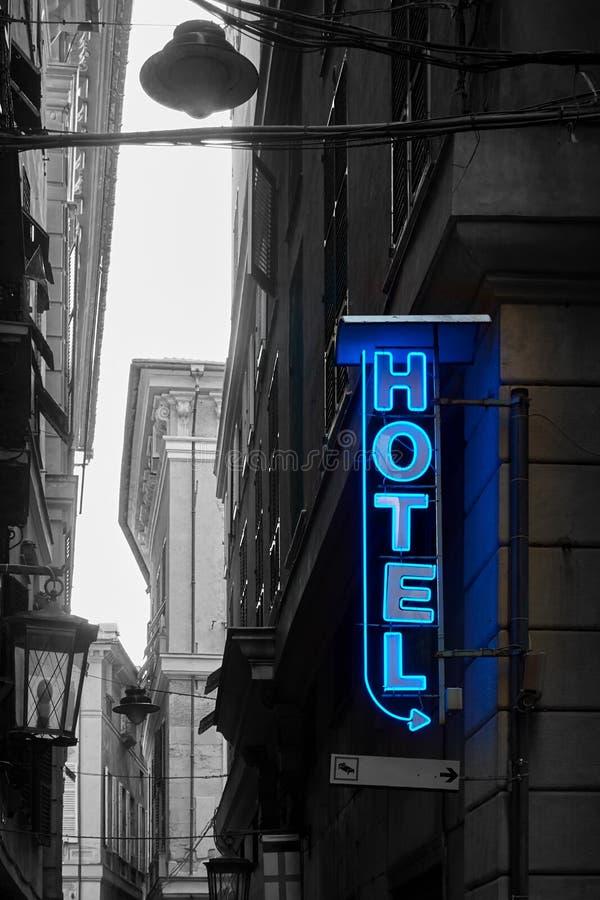 Neonowy hotelu znak zdjęcie royalty free