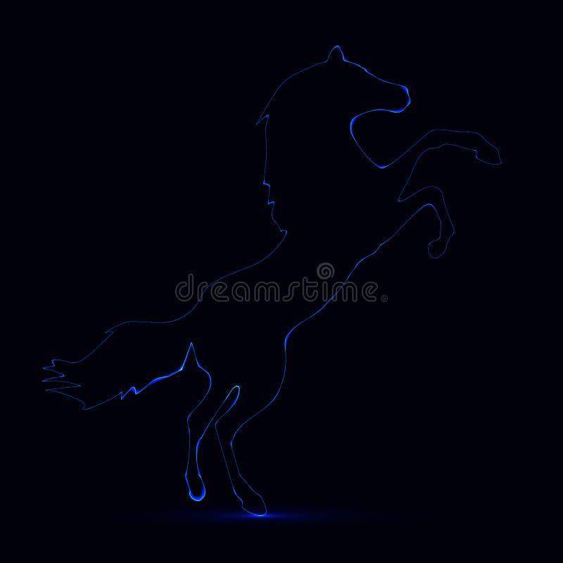 Neonowy koń ilustracji