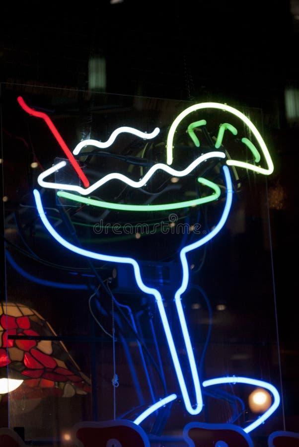 Neonowy koktajl zdjęcie stock