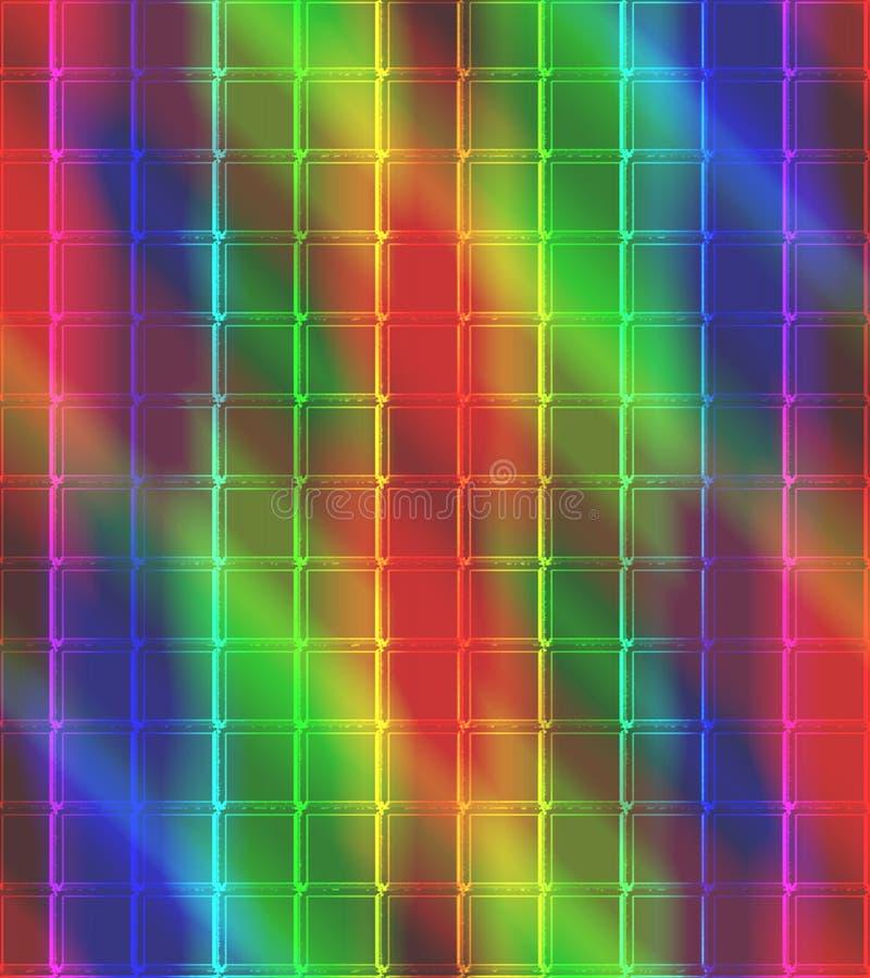 Neonowy mozaiki płytki tło obrazy royalty free