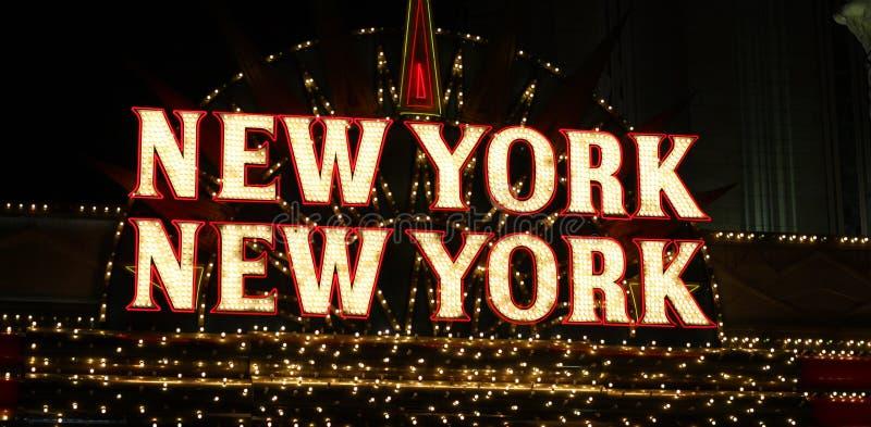 neonowy nowy szyldowy York fotografia royalty free