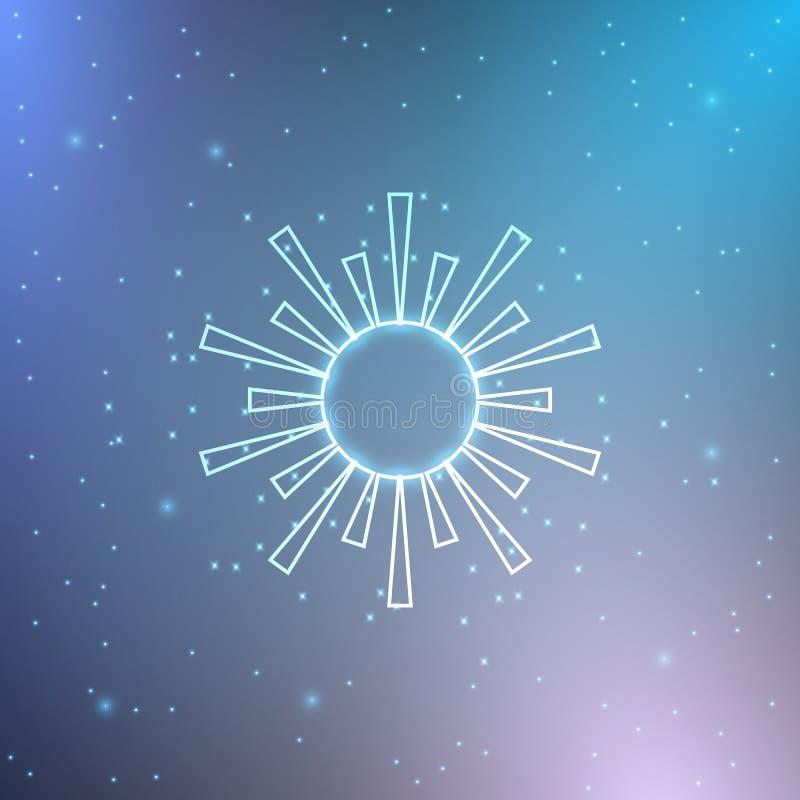 Neonowy słońce ilustracji